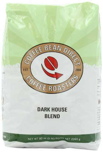 Coffee Bean Direct Dark House Blend, Whole Bean Coffee, 5-Pound Bag