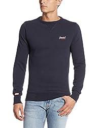 Superdry Men's Cotton Sweater (5054265612374_M20081XNF3_L_Truest Navy)