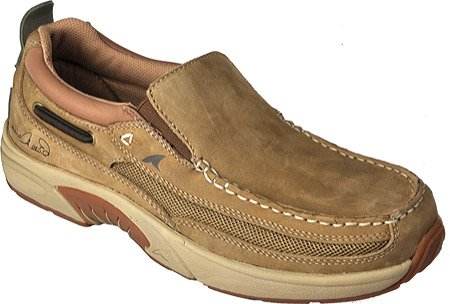 Rugged Shark Men's Bill Dance Casual Angler Boat Shoes,Gold Dust Nubuck Leather,10 M US