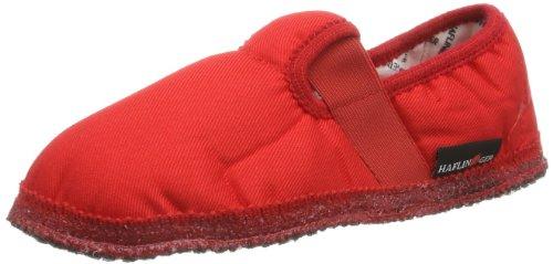 Haflinger Slipper Uno 628029, Pantofole Unisex bambini, Rosso (Rot (rubin)), 35