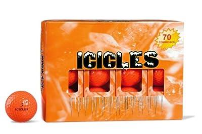 ICICLES Women's V Golf Ball, Orange