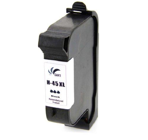 1 x Refill Druckerpatrone ersetzt HP 45XL Black für 930C / 930CM / 93 2C / 935C / 950C / 952C / 959C / 960C / 960CSE / 960CXI / 970CSE / 970CXI / 980C / 980CXI / 990C / 990CM / 990CSE / 990CXI / 995C / 1220C / 1220CP / 1220CSE / 1220CXI / 1280 / 6122 / 6127 / 9300 /: G55 / G55XI / G85 / G85XI / G95 / K60 / K60XI / K80 / K80XIPHOTOSMART: 1000 / 1000XI / 1100 / 1100XI / 1115 / 1115CVR / 1215 / 1215VM / 1218 / 1218XI / 1315