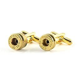 Brass 40 Caliber Bullet Cufflinks