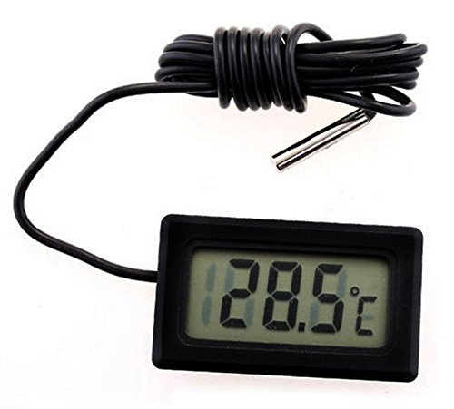 Amonfineshop(TM) New Mini Digital LCD Thermometer Temperatursensor Kühlschrank Gefrierschrank Thermometer