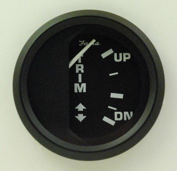 Faria Euro Trim Gauge Black, Mercury, Mariner,