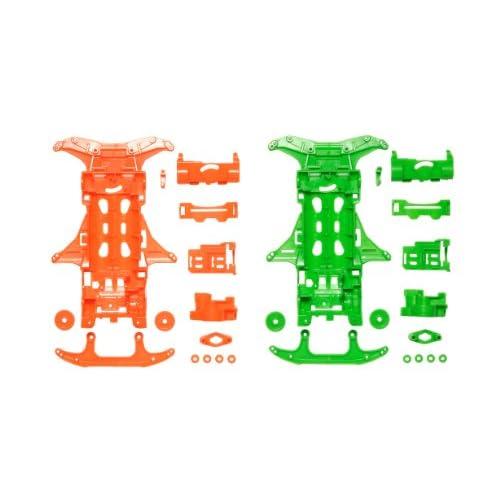 ミニ四駆限定シリーズ VS蛍光カラーシャーシセット (オレンジ/グリーン) 94839