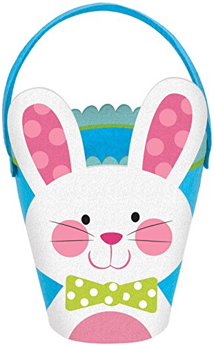 Amscan Blue Bunny Basket - Felt