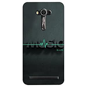 Asus Zenfone 2 Laser Music is Life Printed Back Cover