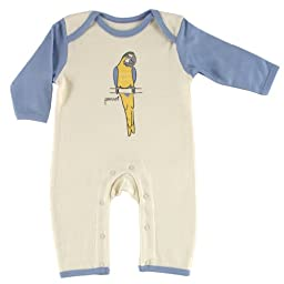 Touched by Nature Baby-Boys Organic Romper, Parrot, 6-9 Months