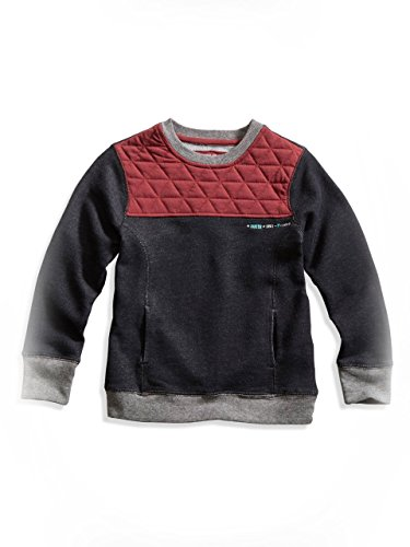 Guess Kids Little Boy Quilted-Yoke Pullover (2-7), Red Faux-Suede (3T)