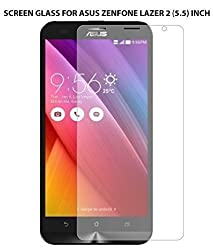 Dashmesh Shopping Tempered Glass for Asus Zenfone 2 Laser ZE550KL 5.5 Inch [Cutout for Proximity Sensor], 0.3mm thickness, 9H Hardness, 2.5D Curved Edge, Reduce Fingerprint, No Rainbow, Bubble Free & Oil Stains Coating with Alcohol wet cloth pad & clean micro fibre Dry cloth, Anti Explosion Tempered Glass Screen Protector for Asus Zenfone 2 Laser ZE550KL 5.5 Inch