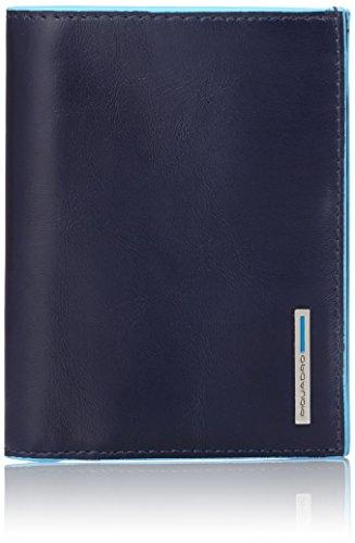 Piquadro PU1393B2/BLU2 Blue Square Portafoglio, Blu, 12 cm