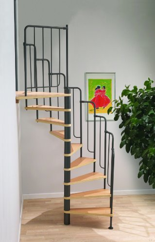 Dolle Barcelona Loft Spiral Staircase Kit - Black Metal-Work (In Stock)