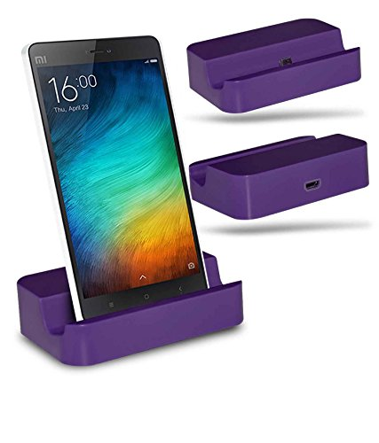 Xiaomi Mi 4i Station d'accueil de bureau avec chargeur Micro USB support de chargement - Purple - By Gadget Giant®