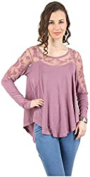 MANKA Women's Long Sleeve Top (MK-508P_XL, Pink, X-Large)