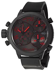 Welder by U-boat K29 Triple Time Zone Chronograph Black Mens Watch Calendar K29-8002