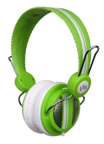 New Vm Audio Srhp5 Stereo Mp3/Iphone Ipod On Ear Dj Headphones Monitor - Green