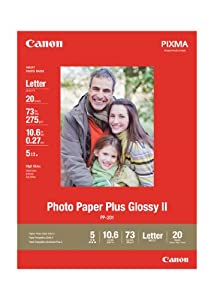 Canon Photo Paper Plus Glossy II, 8.5 x 11 Inches, 20 Sheets (2311B001)
