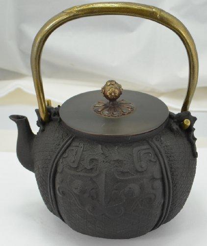 Cast Iron Tea Pot (Teapot) / Tea Kettle (Teakettle) - Symbol Of Tiger, Black