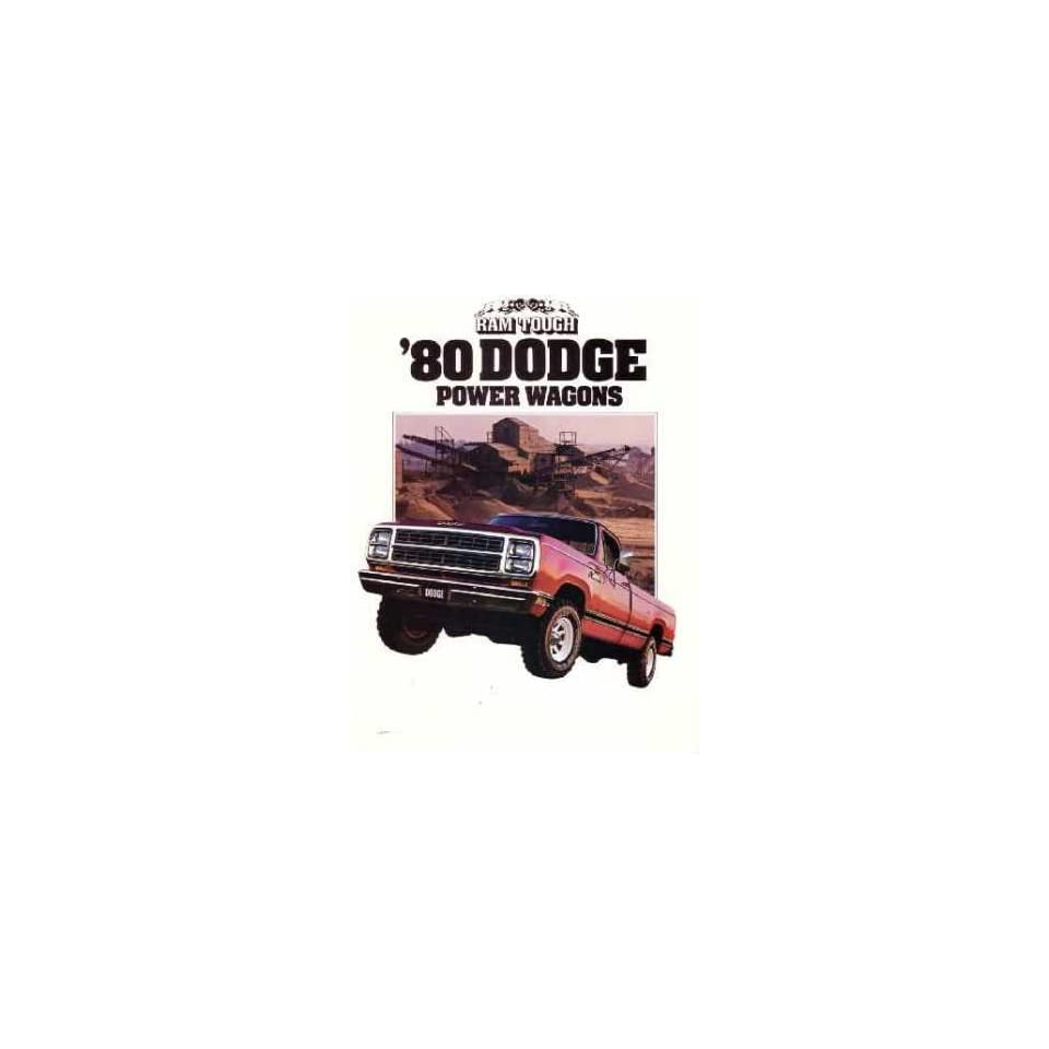 1980 Dodge Power Wagons Sales Brochure Literature Book Advertisement Options