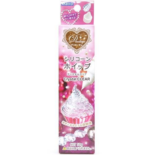 silicone whipped cream for clay sweets from Japan