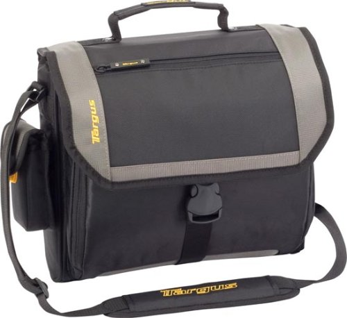 Targus CityGear Atlanta Messenger Case for 13.3 Inch Notebooks TCG213T (Black with Grey)