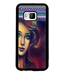 PrintDhaba Beautiful Girl D-5623 Back Case Cover for HTC ONE M9S (Multi-Coloured)
