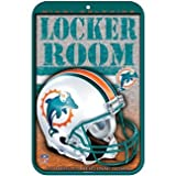 "Miami Dolphins 11"" x 17"" Indoor/Outdoor Locker Room Sign"