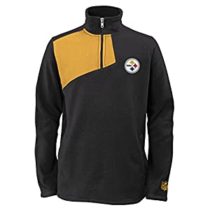 Pittsburgh Steelers Youth 1/4 Zip Microfleece Pullover Jacket at Steeler Mania