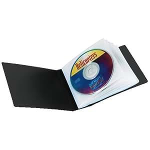 Hama 49805 Étui CD noir pour le transport de 12 CD+12 Livrets ou 24 CD