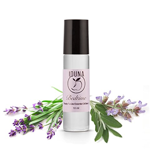 Number 1 Ready To Use - Iduna Bedtime, relaxing blend 10 ml ★ BEDTIME Natural Sleep Aid & Essential Oil Blend ★ Peace & Calming When It's Difficult to sleep ★ Serenity for a Full Night's Slumber ★ 100% Organic or Eco-harvested Lavender, Sweet Orange, & O