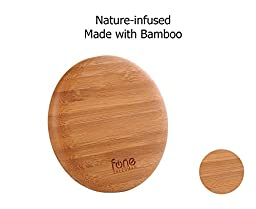 WoodPuck: Bamboo Edition Qi Wireless Charging Pad compatible with Samsung Galaxy S7, S7 Edge, S6, S6 Edge, Note 5, S6 Edge +, iPhone SE, 6S & 6S Plus with iQi Mobile, Galaxy S5, 4 with SlimPWRcard & more (Cappuccino)
