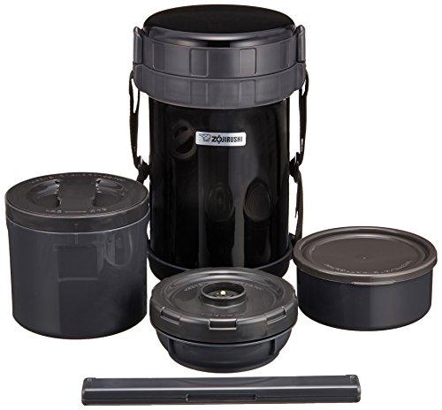 象印 保温弁当箱 ステンレスランチジャー ブラック【大容量お茶わん約4杯分】 SL-XD20-BA