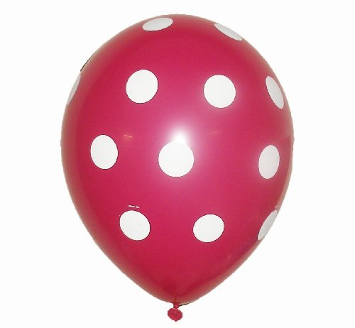 Polka Dots Latex Balloons 24 Wild Berry