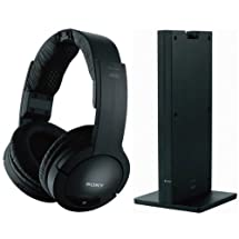 Sony 150 feet Expanded Long Range RF Wireless Noise Reducing Dynamic Stereo Headphones with Volume Control, Mute Switch & Adjustable Comfortable Wide Headband for all Sceptre E243LV-FHD, E243PV-FHD, E243RV-FHD, E243WV-FHD, E243CV-FHD & E243BV-FHD LED LCD HDTV Flat Screen Television - Radio Frequency Transmission Works Even Through Walls