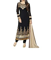 Poonam Fab-Unstitch Dress Material_KK_Black