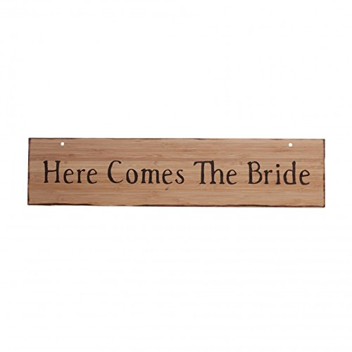 Koyal Wholesale Here Comes The Bride/Just Married Rustic Wedding Wood Sign, Large front-27867
