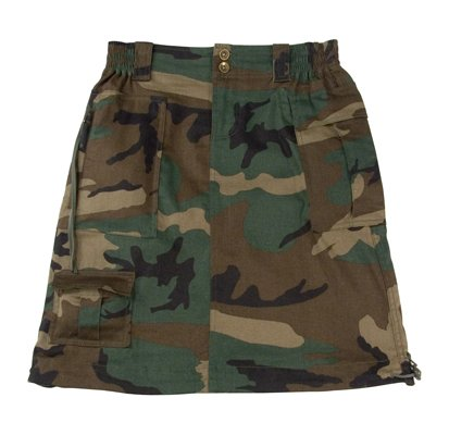 Knee Length Camouflage Skirt