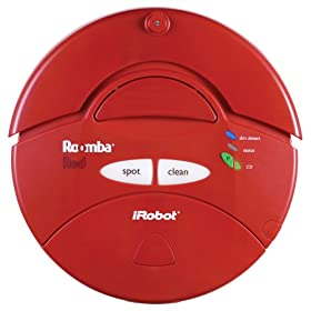 iRobot Roomba 410 Intelligent Floorvac Robotic Vacuum Cleaner, Red
