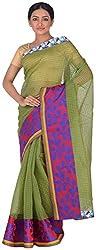 Studio J Women'S Cotton Khaadi Saree (ABC007, Green)