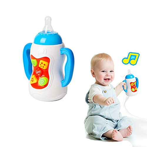 KAICHENG Musical Baby Bottle Nipple Teether Combined Educational Toys