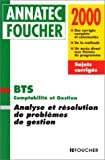echange, troc P. Mykita - Analyse et résolution de problèmes de gestion, BTS comptabilité et gestion