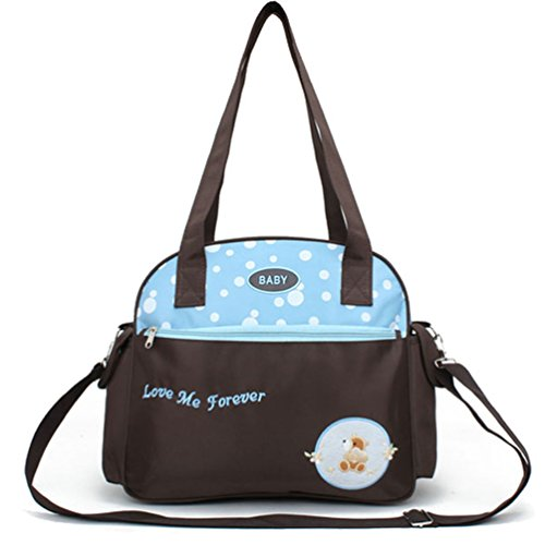 L.Sense Middle Size Multi-function Microfiber Tote Baby Diaper Bag with Shoulder Strap - 1