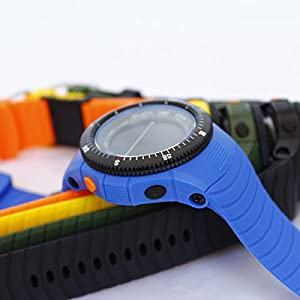 Candy Color 3ATM Waterproof Silicone Multi-function Elctronic Watch