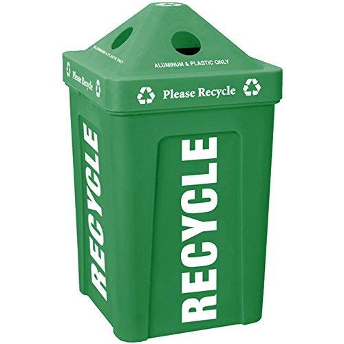 Green Stacking Pyramid Lid Recycle Bin 48 Gallon Craigupatrickeu