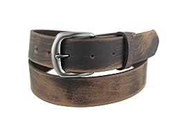 Mans Fun Brown Leather Belt 2101 Mans belt leather belt funky belt Large