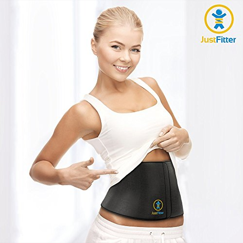 Waist Trimmer Belt For Men & Women - More Fully Adjustable Than Other Waist Slimming Belts - Provides Best Support For Lower Back & Lumbar - Results Guaranteed!