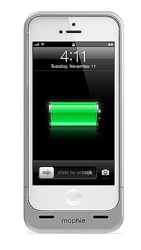 Special Sale mophie Juice Pack Helium Rechargeable External Battery Case for iPhone 5 (1500mAh) Metallic Silver