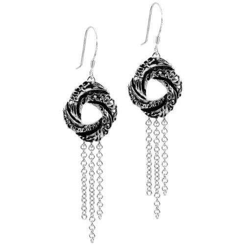 Bond Girl Love Knot Jewellery - Silver Earrings