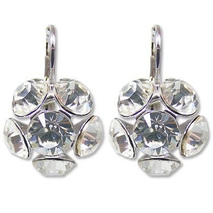 Bilder von Ohrringe mit SWAROVSKI ELEMENTS Crystal - Farbe - Crystal - Silber